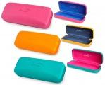 Brýlové pouzdro s barevným vnitřkem - BALENÍ 3 KS MIX