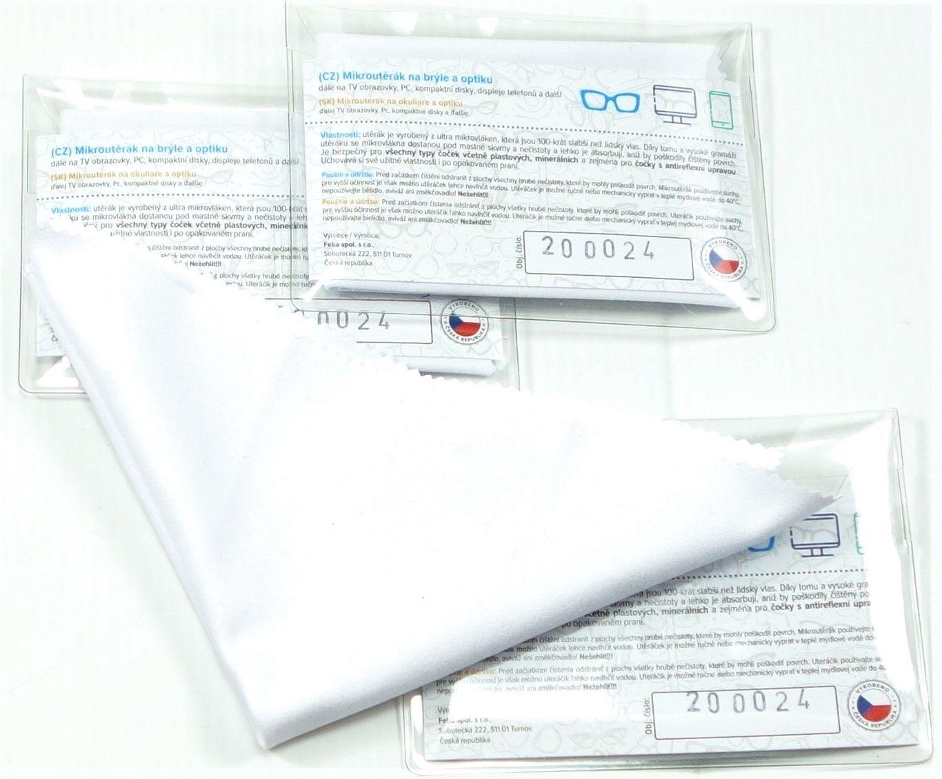 Luxusní bílý mikroutěrák 180 x 180mm v PVC OBÁLCE