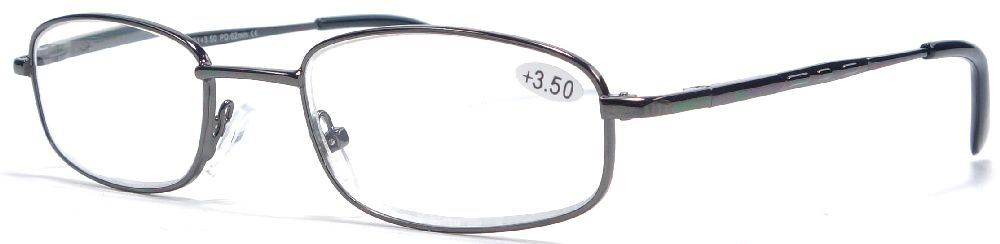 Čtecí brýle - barva - GUNMETAL (kovová lesklá)