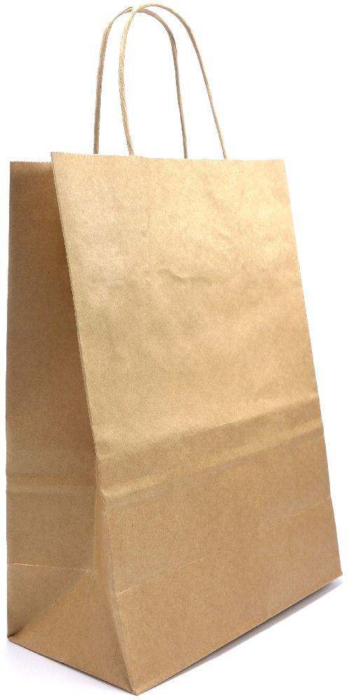 Papírová taška s krouceným uchem-výhodná cena